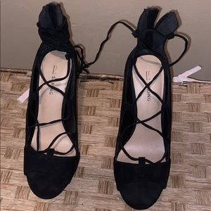 Call it Spring Black Heels size 6.5